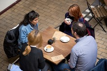 Samaritans Brew Monday - at table, from above