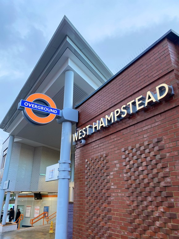 TfL Press Release - Work to improve London Overground's West Hampstead station is complete: TfL Image - West Hampstead 4