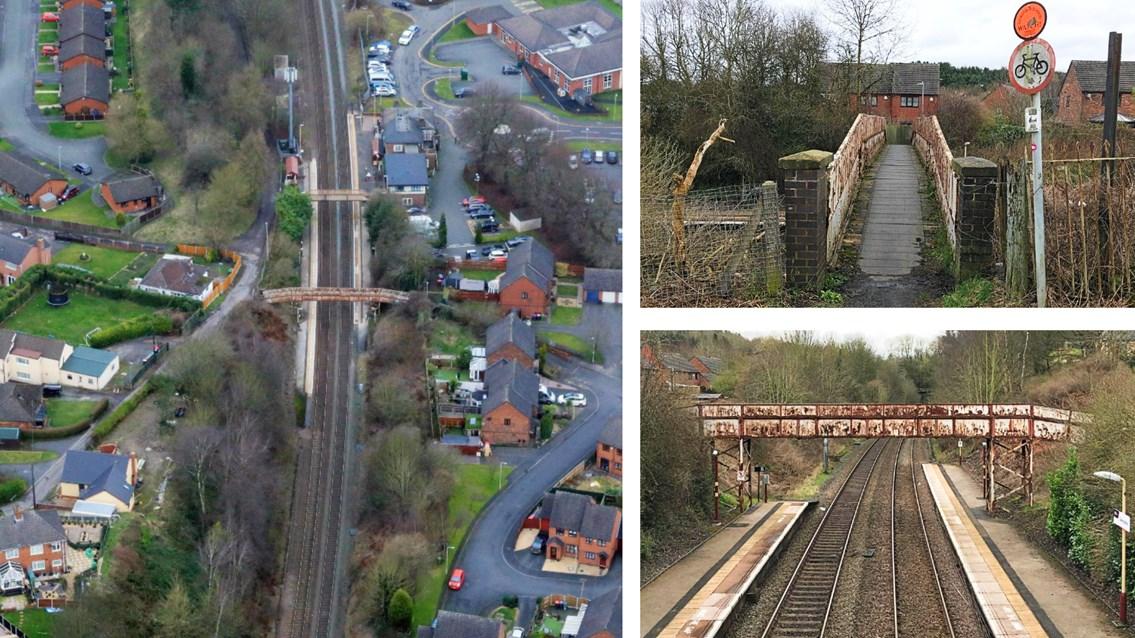 Major railway investment for station footbridge in Telford: Oakengates station composite