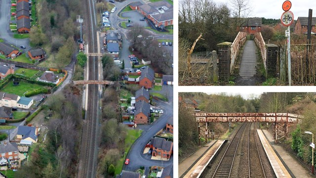Major railway investment for station footbridge in Telford: Oakengates station composite