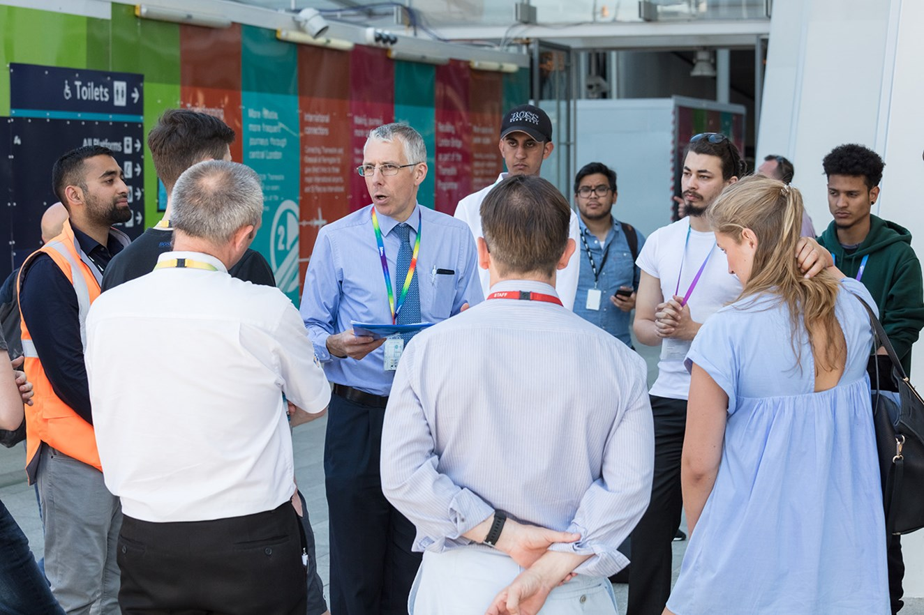 London Bridge station welcomes students for Year of Engineering: London Bridge Year of Engineering 2018 (4)
