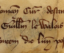 Wallace Letter Gullaime De Walois