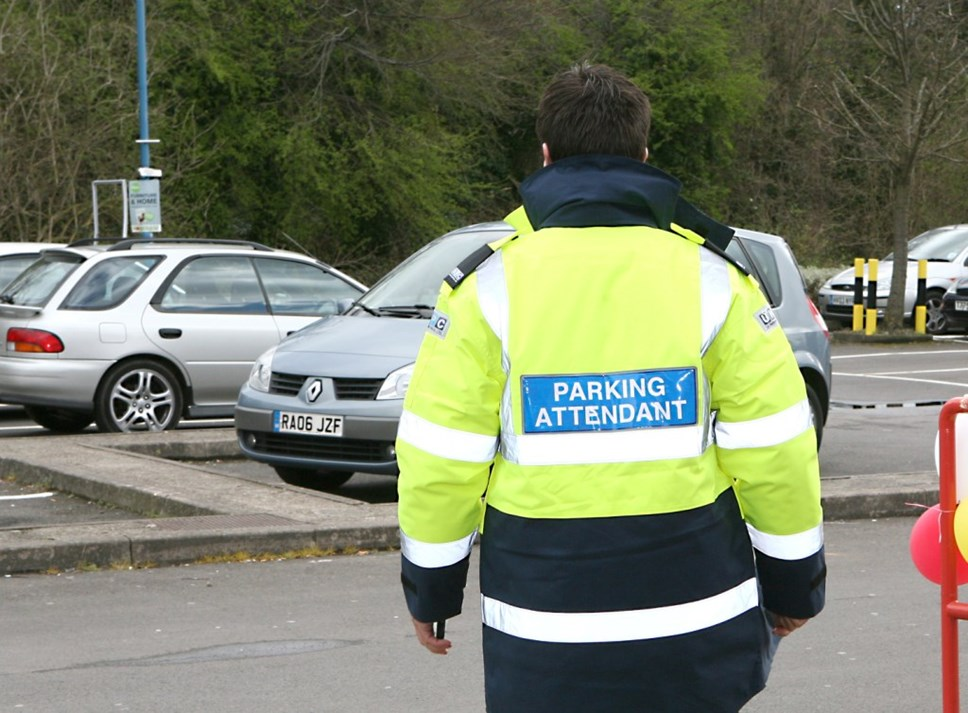 private parking - attendant in car park
