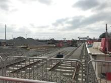 Newly laid track at Market Harborough
