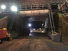 Bramley Bridge replacement - New bridge in situ