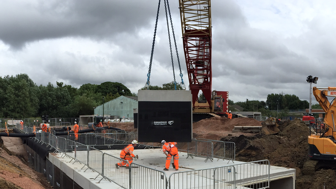 Flood busting measures help protect vital railway line despite record river levels: Culvert installation part waterproofed webv2