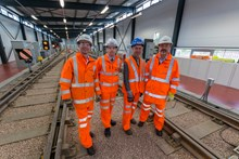 Larbert MP visit: left to right - Luke Graham MP, Martin Mina, Alan Brown MP and Ronnie Cowan MP