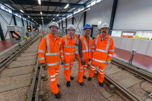 Politicians get on track with Scotland's railway: Larbert MP visit