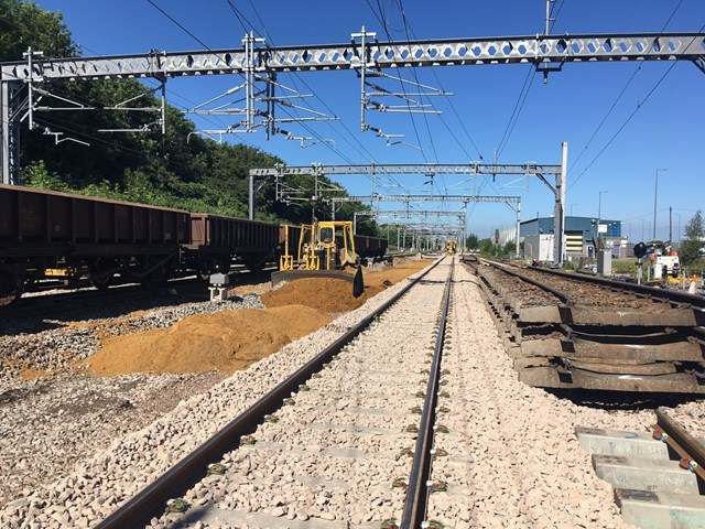 30 June  New track and ballast