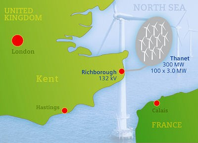 Siemens to connect Thanet offshore wind farm to the British power grid: thanet.jpg