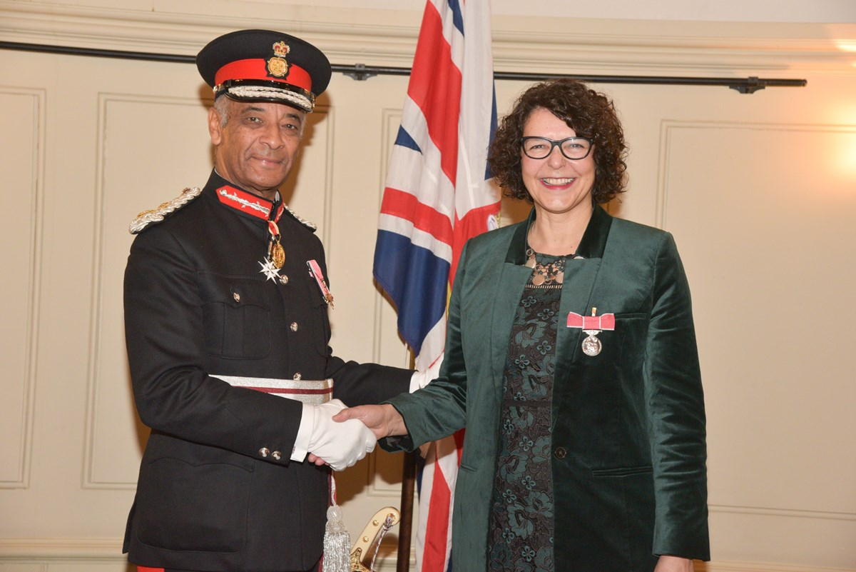 Susanna Daus - BEM: Susanna Daus, manager of Islington Council's adoption and fostering service, receives her British Empire Medal, recognising her outstanding work in the sector.