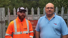 Network Rail lifesavers Rob Marsh and Davis Cairns