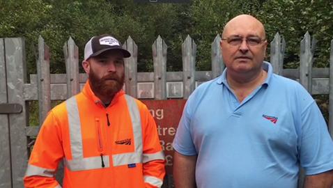 Network Rail lifesavers Rob Marsh and Davis Cairns