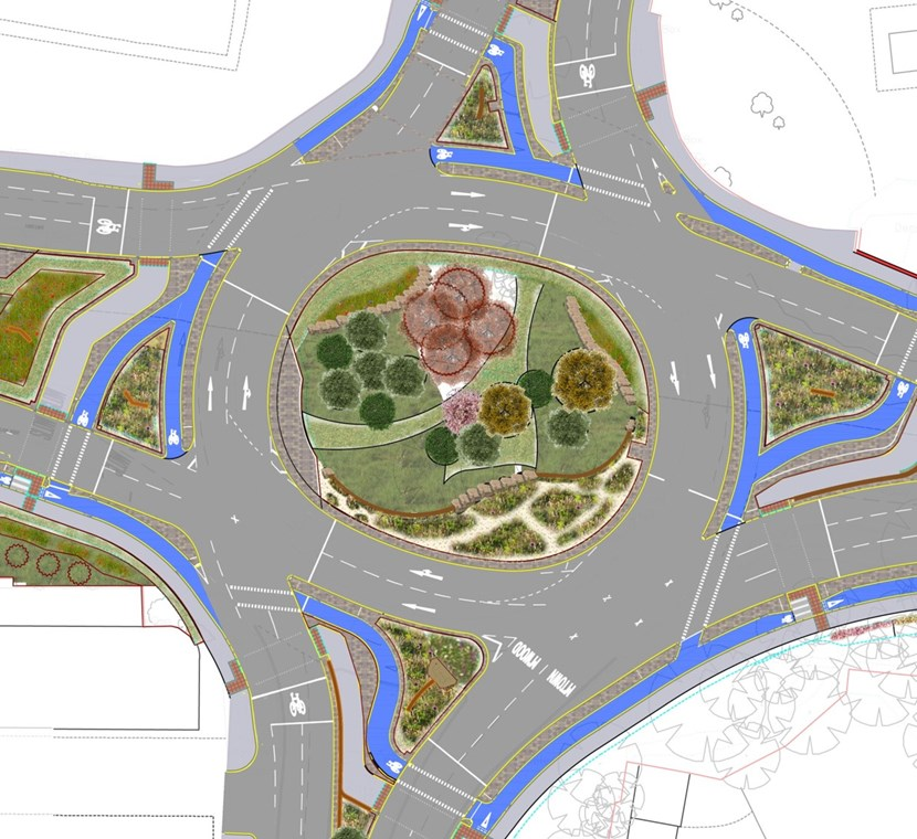 North east Leeds ring road junction improvements to commence later this month: planformoortownroundabout.jpg