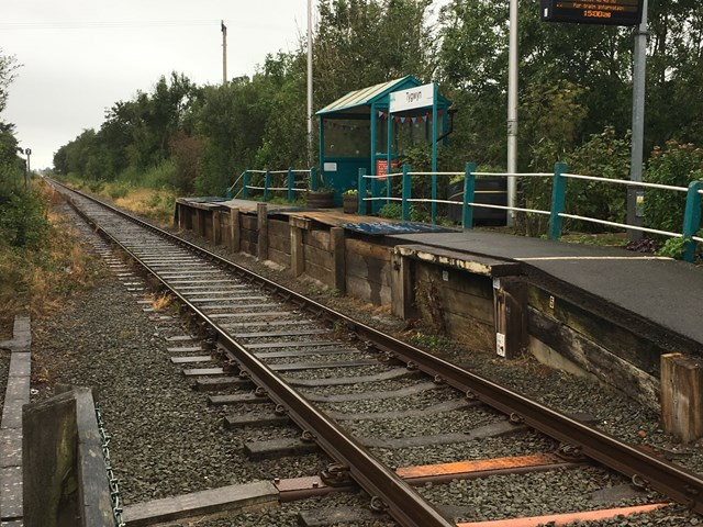 Improvement work at Ty Gwyn station comes to an end: Ty Gwyn Station 1 Before