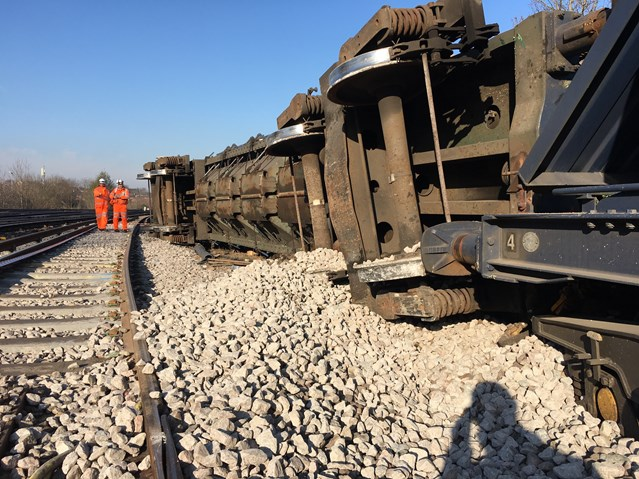 UPDATE and VIDEO: Southeastern passengers urged to check before travelling as recovery continues following Lewisham freight train derailment: Lewisham freight train partial derailment