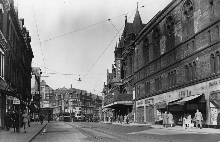 New Briggate of yesteryear: An undated photo of New Briggate that features in the exhibition. Credit: Leeds Libraries, Leodis.net.