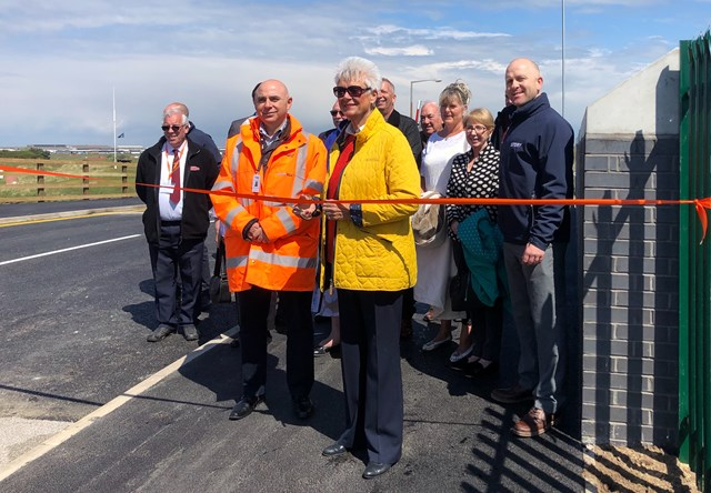 Fylde coast bridge reopens after successful £2.2m renovation project: Leader of Fylde Borough Council Cllr Sue Fazackerley , opening Highbury Road bridge in Lytham St Annes