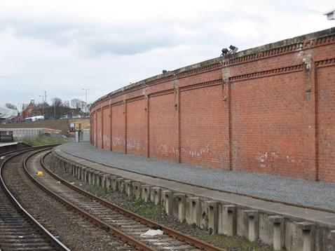 Resurfaced redundant plaform, Hartlepool station