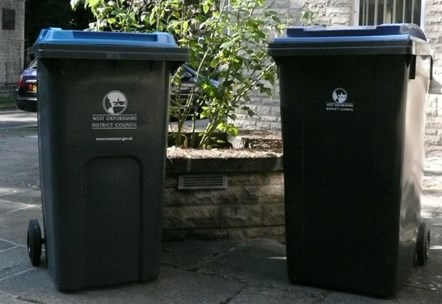 Bins recycling no people