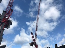 London Bridge crane: One of the many cranes on site at London Bridge
