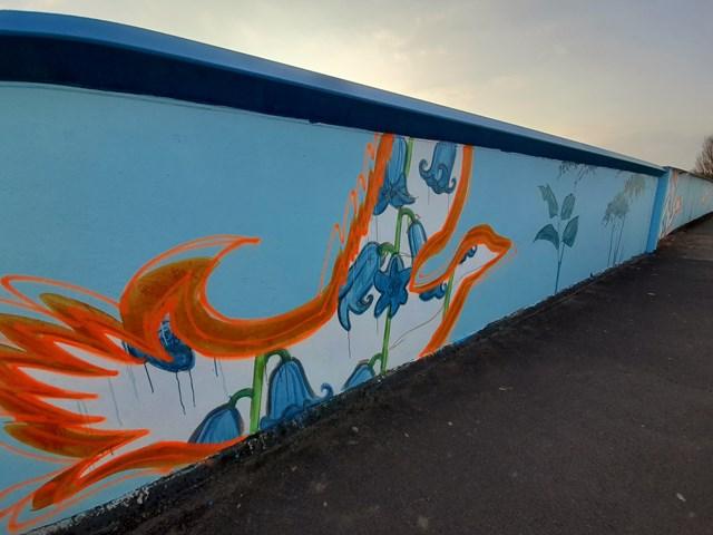 Artwork on Love Lane bridge, Photo credit Emma Garness