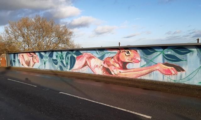 Network Rail installs artwork in York village to help tackle graffiti near railway: Network Rail installs artwork in York village to help tackle graffiti near railway
