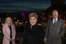 l-r Scottish National Investment Bank CEO Eilidh Mactaggart, First Minister of Scotland Nicola Sturgeon, Bank Chair Willie Watt 2