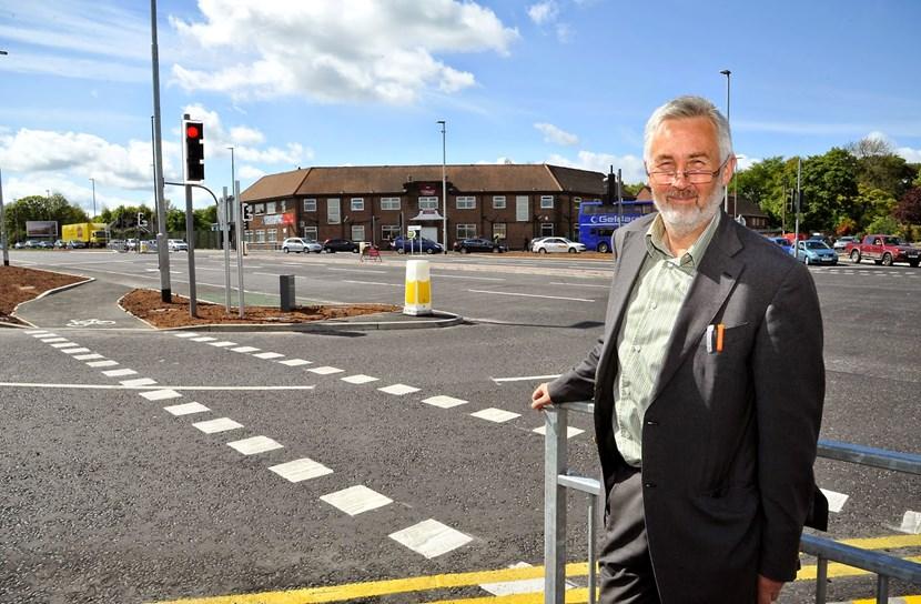Thornbury Barracks roundabout improvements complete: thornburybarrackscllrlewis.jpg