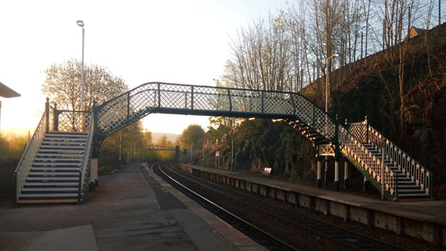 Historic railway footbridge refurbishment complete at New Mills Newtown station: New Mills Newtown footbridge-3