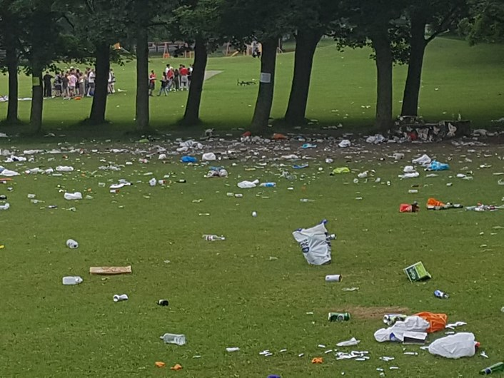 Campaign to tackle litter at parks and green spaces launched by Leeds City Council: Litter