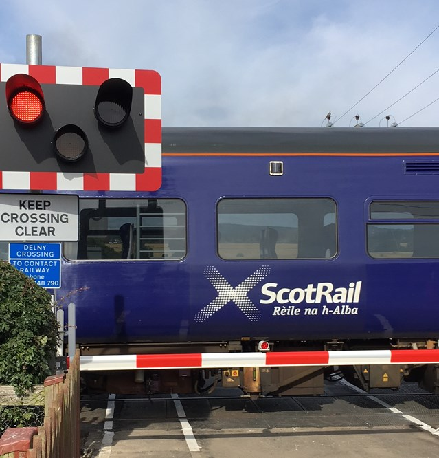 Delny level crossing upgrade works completed: Delny new half-barrier crossing