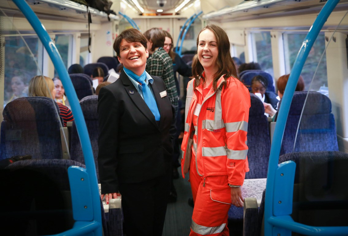 Britain's first 'all female operated' train service runs today: SoutheasternFemaleJourney IWD