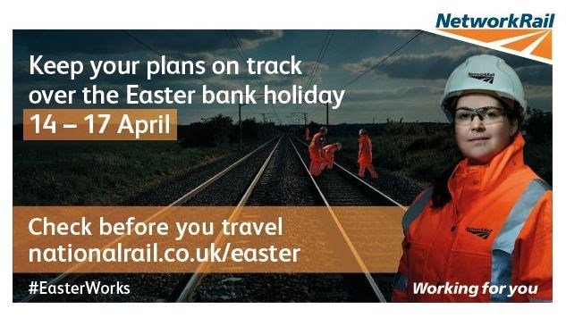 Rail passengers in the South East reminded to check before they travel this Easter and plan ahead for August and Christmas: easterworks