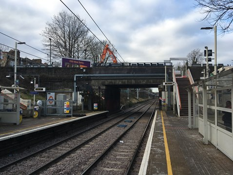 Crouch Hill bridge view from station