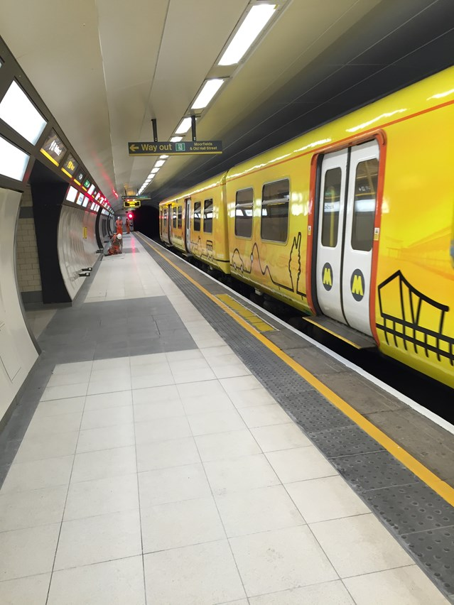 Phase two of £12m Moorfields station refurbishment complete: Moorfields Station Platform1