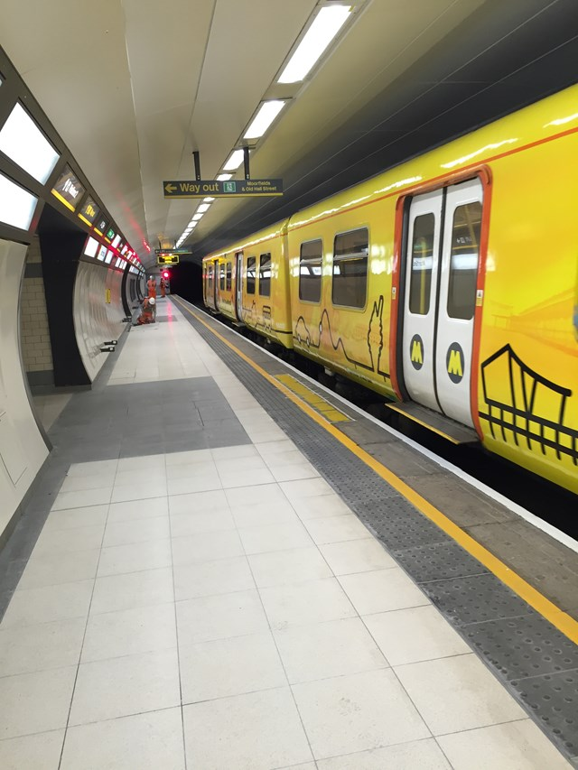 Phase two of £12m Moorfields station refurbishment complete: Moorfields Station Platform1
