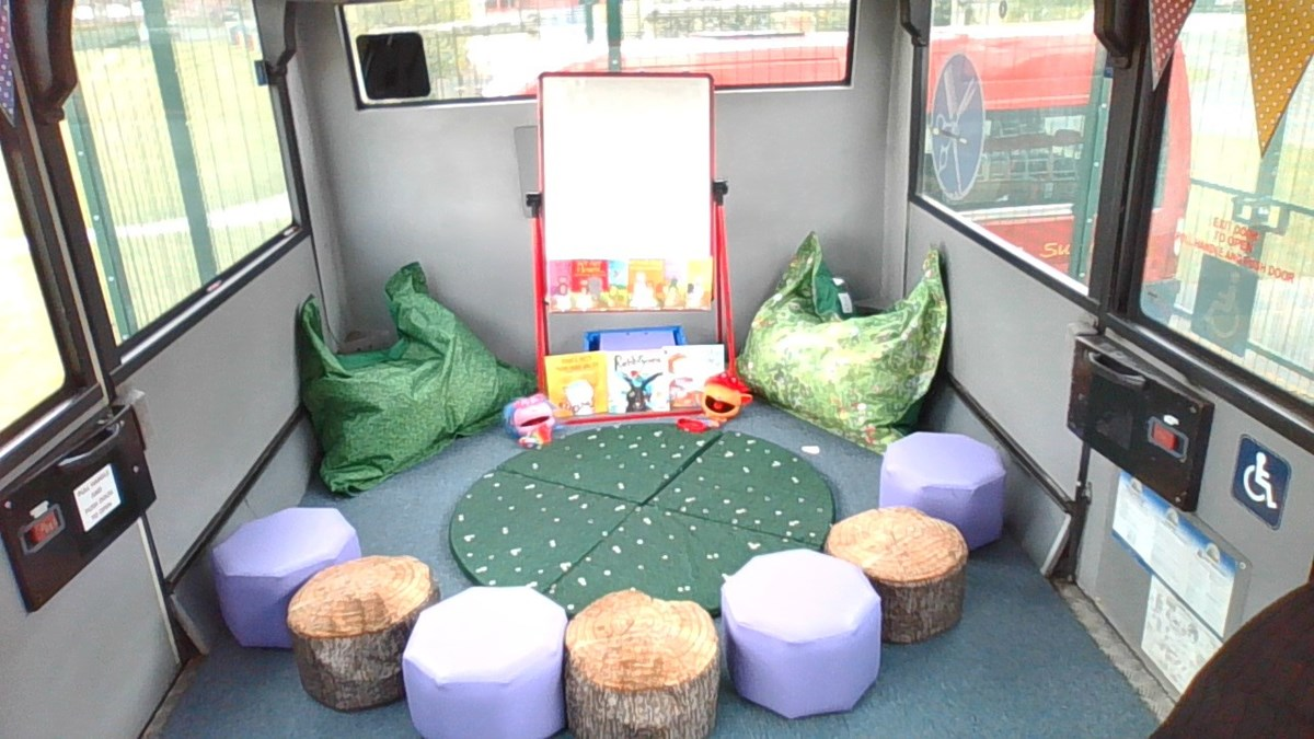 Red Lane yellow school bus 4: A decommissioned yellow school bus donated by TfGM to Red Lane Primary School in Bolton in 2019. The school has converted it into a wellbeing bus
