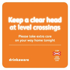 Keep a clear head drinks coaster