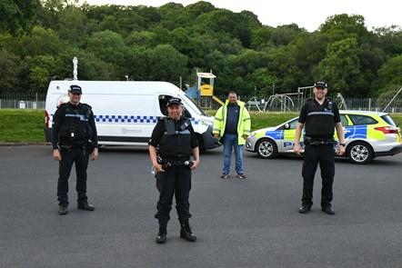 Joint patrols at Woodroad Park, Cumnock