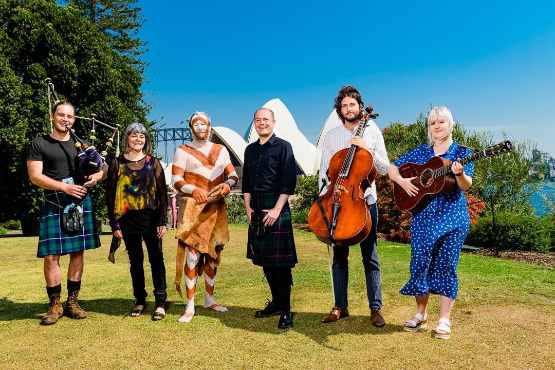 0233 Alan Morrison, Emily Kelly & Graham Coe (Jellyman's Dauger), Fiona Ross, Rick Roser, Tom Morris - Year of Scotland Launch, year of Scotland in Australia