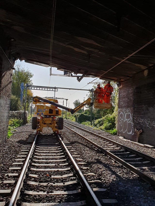 Anglia route passengers to check before travelling over the festive season due to planned works: Southend OLE Boom Installation Nov 19