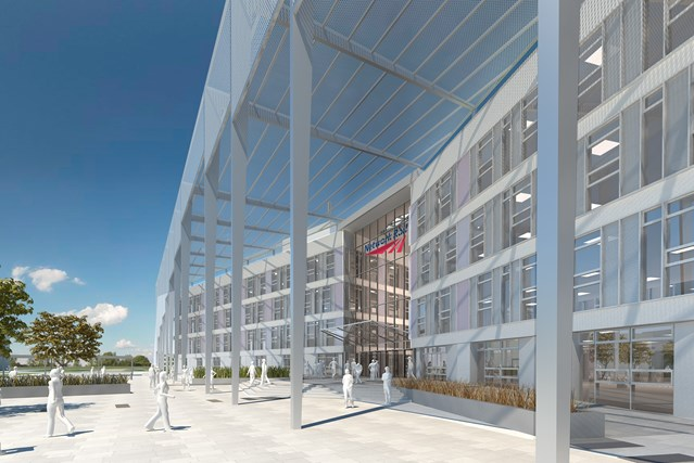 NETWORK RAIL GIVEN GREEN LIGHT TO BRING 3,000 JOBS TO MILTON KEYNES: Network Rail national centre - main entrance