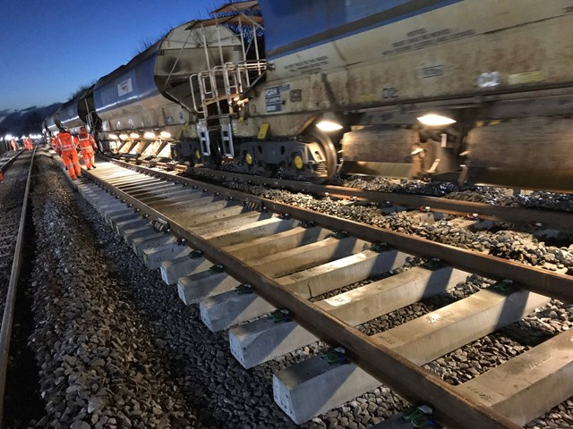Work this summer set to bring improved reliability to Severn Beach passengers: Track Renewal on Western route - Tamping-2