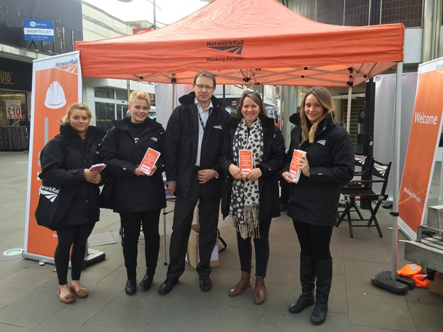 Look out for the orange tent across Newport and Cardiff