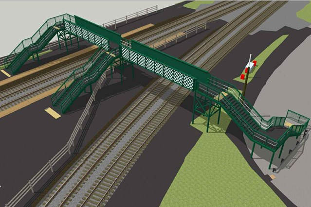Network Rail Footbridge Design Ideas Competition launches: An artist's impression of the new Barnt Green footbridge