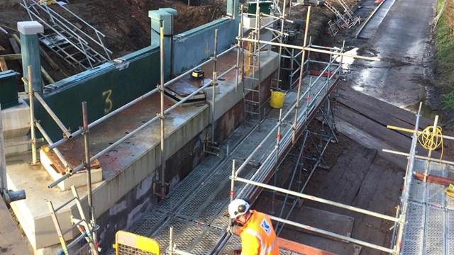 Passengers urged to check before travelling as storm Bella causes Postwick bridge replacement delays: Postwick Bridge 3 Dec 20