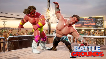 WWE2K BG Eddie Guerrero vs Ultimate Warrior