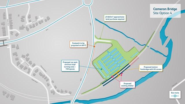 NR Cameron Bridge - site 4 station map