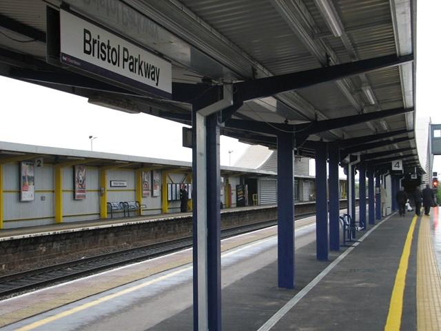 Bristol Parkway: Completed platform